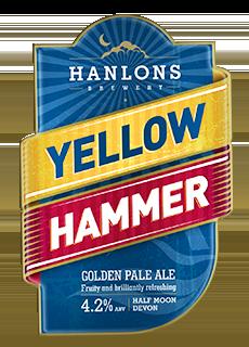 yellow hammer ale hanlons brewery award winning craft beers devon